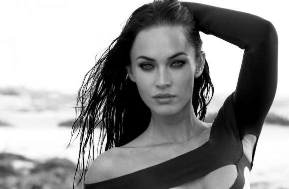 Megan Fox Black And White wallpapers hd quality
