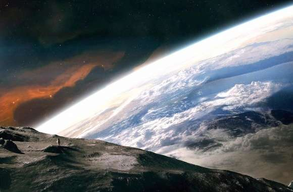 Moon earth astronaut fantasy wallpapers hd quality