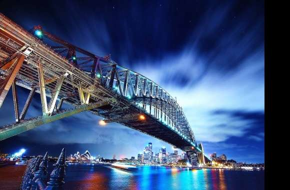 Night bridge in sidney city wallpapers hd quality