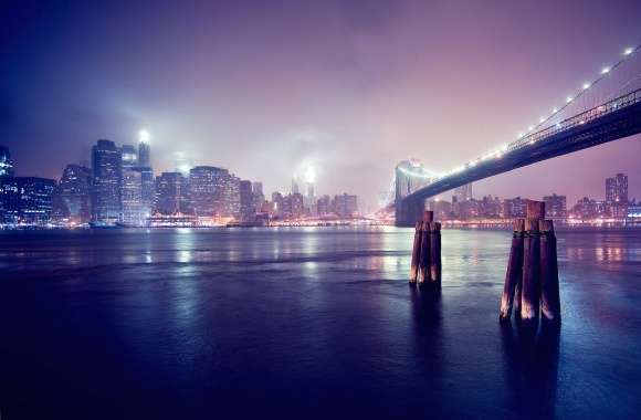 Night brooklyn bridge new york wallpapers hd quality