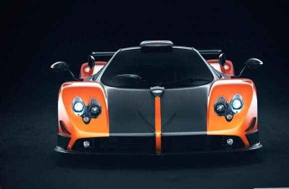 Pagani zonda cinque orange wallpapers hd quality