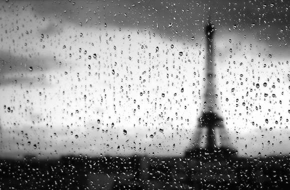 Paris throw rained glass wallpapers hd quality