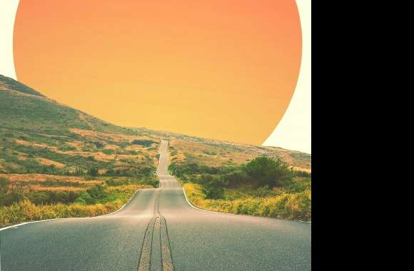 Road to sunset
