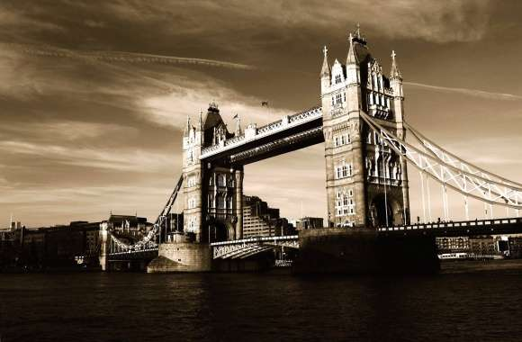 Sepia photo tower bridge london