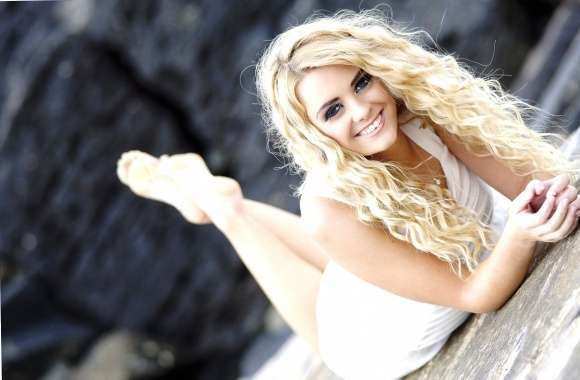 Smiling blonde beauty wallpapers hd quality