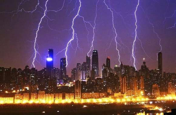 Storm in china city wallpapers hd quality