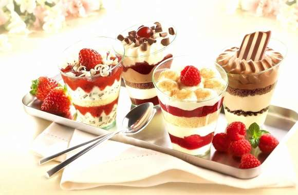 Strawberry and chocolate dessert wallpapers hd quality