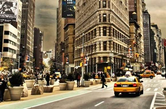 Street in manhattan new york wallpapers hd quality