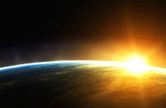 Sunset from space wallpapers hd quality