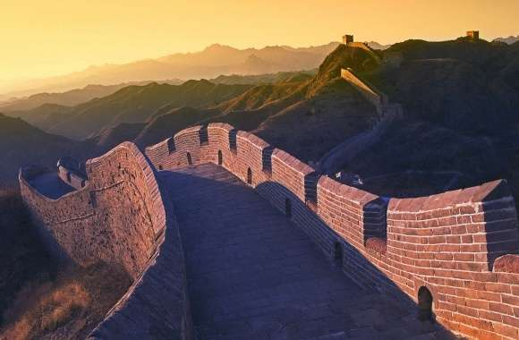 Sunset great wall china wallpapers hd quality