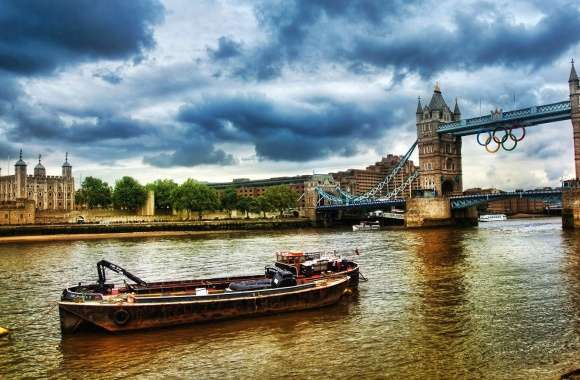 Thames river london tower bridge olimpic wallpapers hd quality