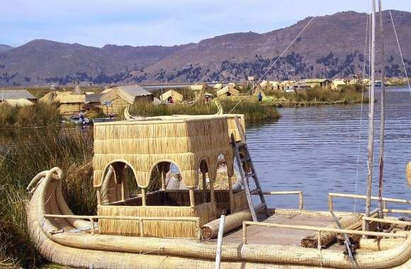 Titicaca lake boat wallpapers hd quality