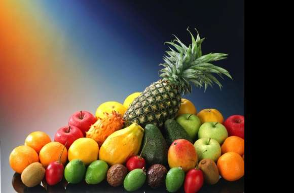 Tropical fruit with ananas wallpapers hd quality