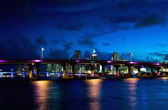 Usa miami by night wallpapers hd quality