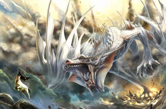White dragon wallpapers hd quality