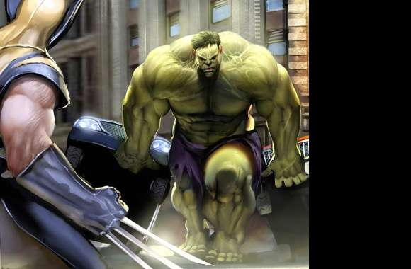 Wolverine vs Hulk wallpapers hd quality