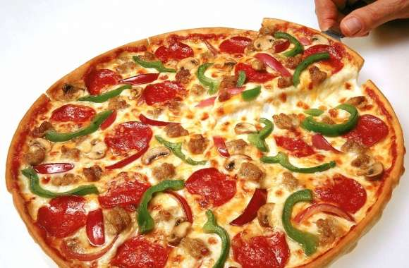 Yummy pizza sliced wallpapers hd quality