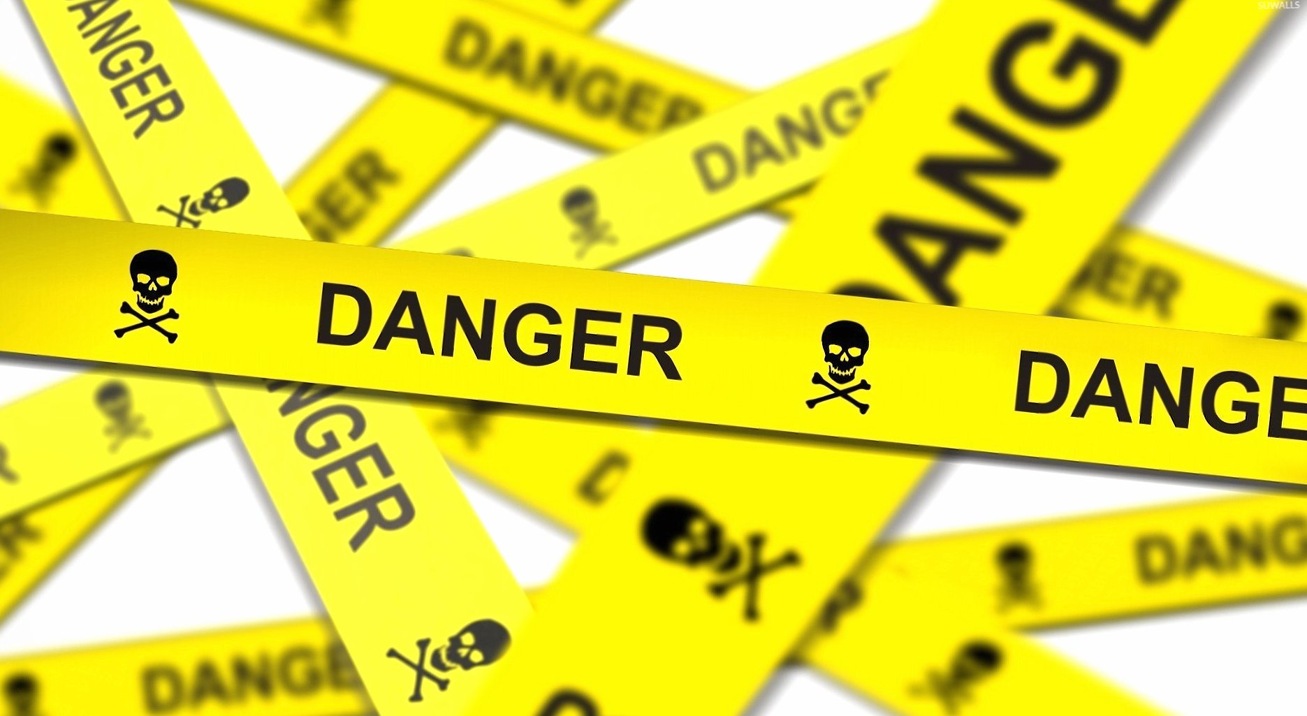 Danger tape wallpapers HD quality