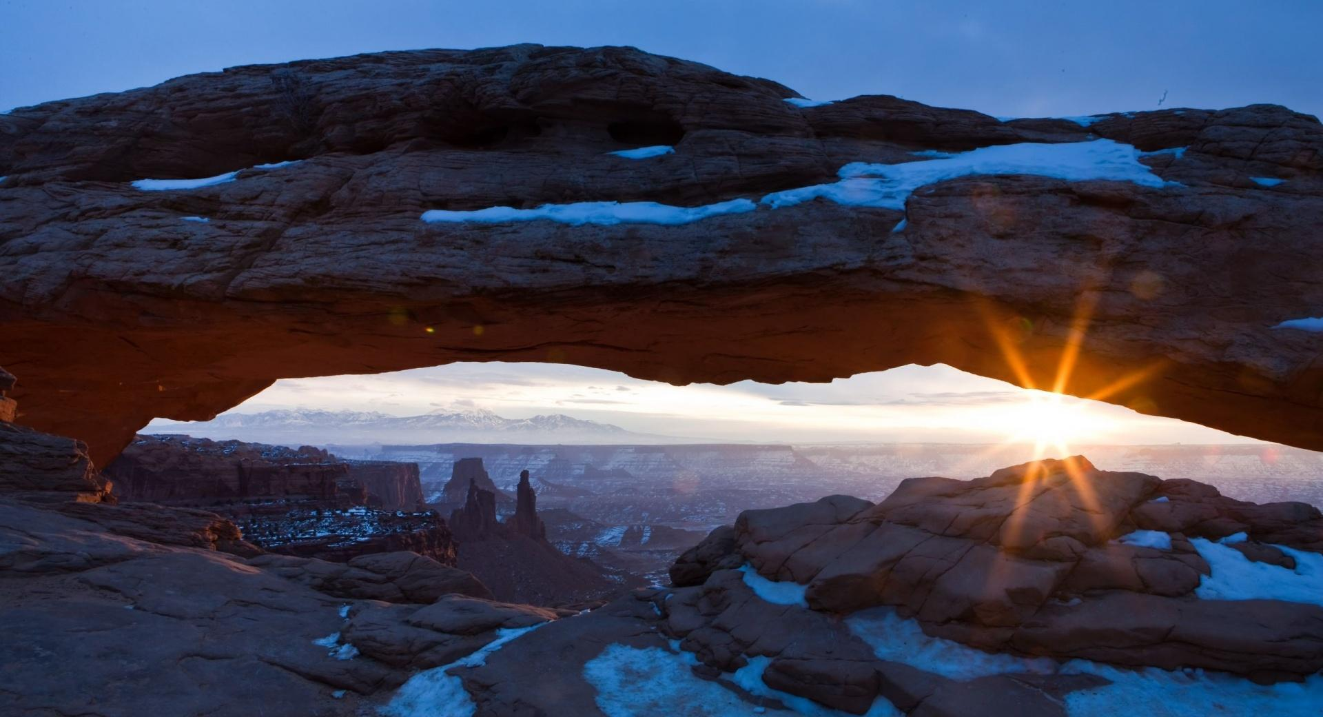 Desert Arch  Winter wallpapers HD quality