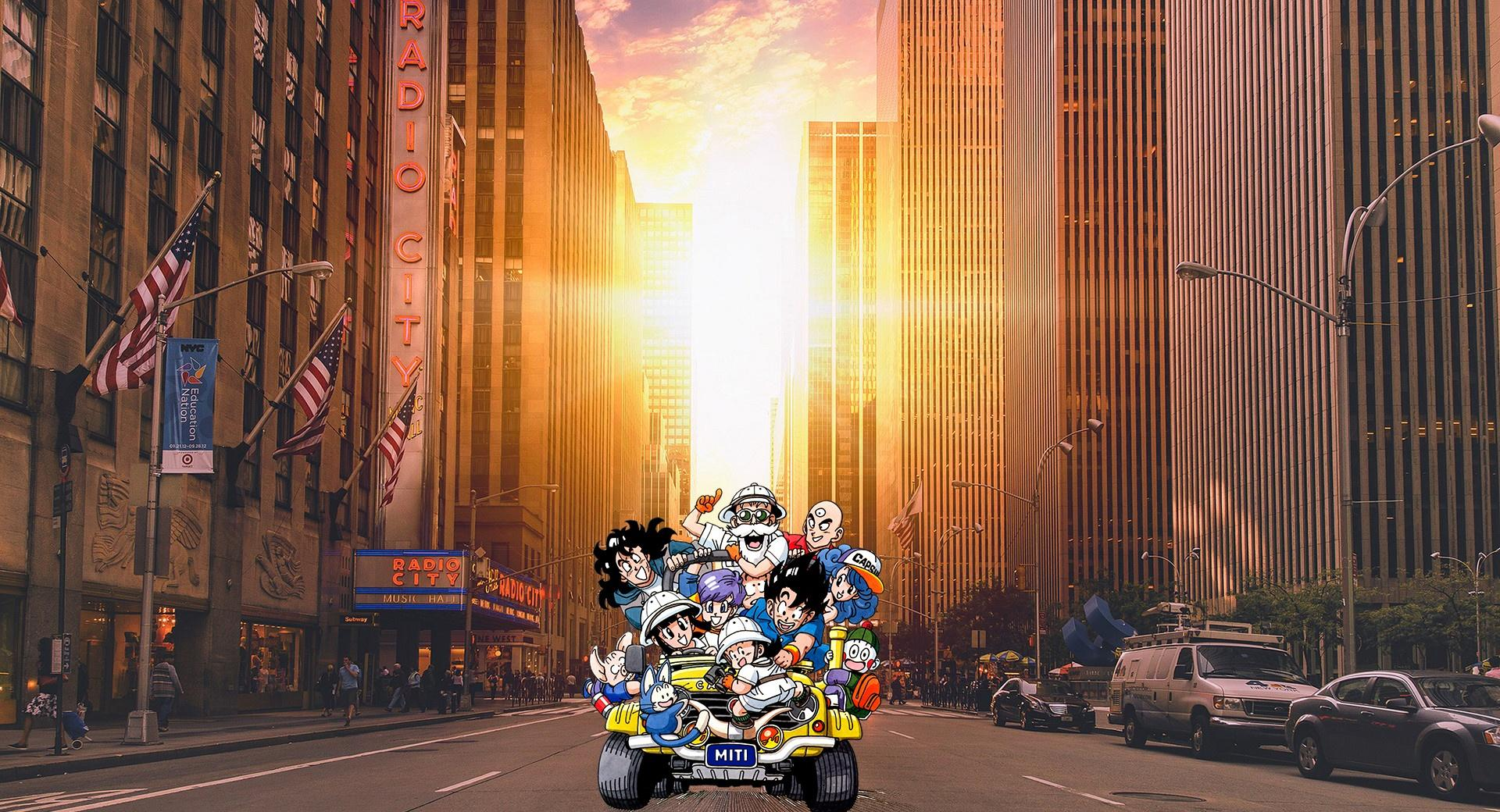 Dragon Ball Team in Manhattan wallpapers HD quality