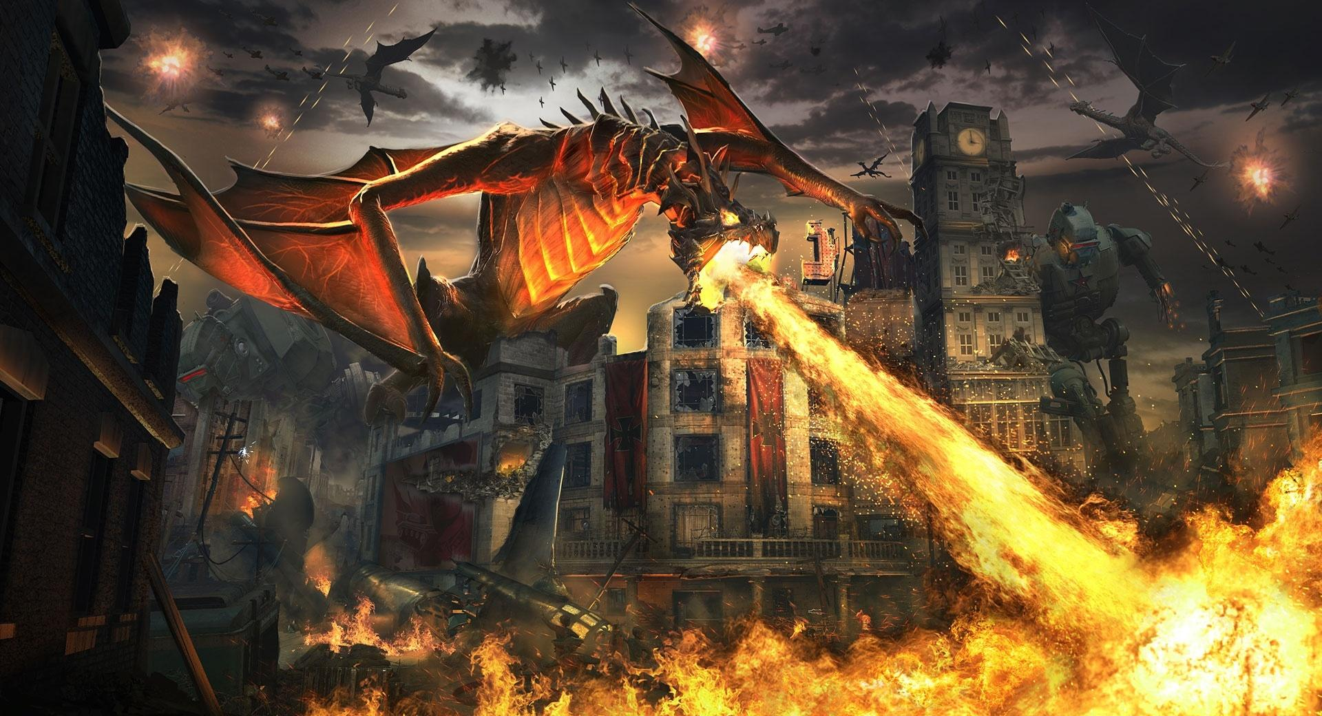 Dragon Breathing Fire wallpapers HD quality