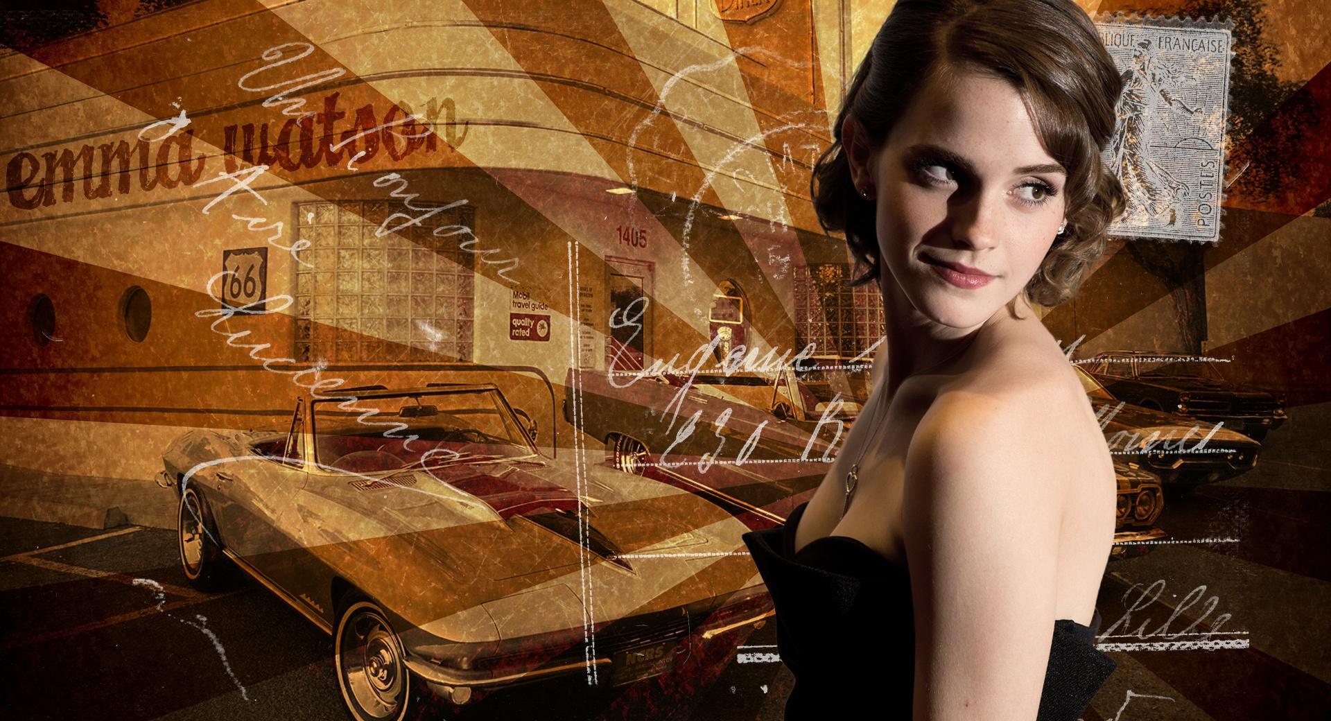 Emma Watson Retro wallpapers HD quality