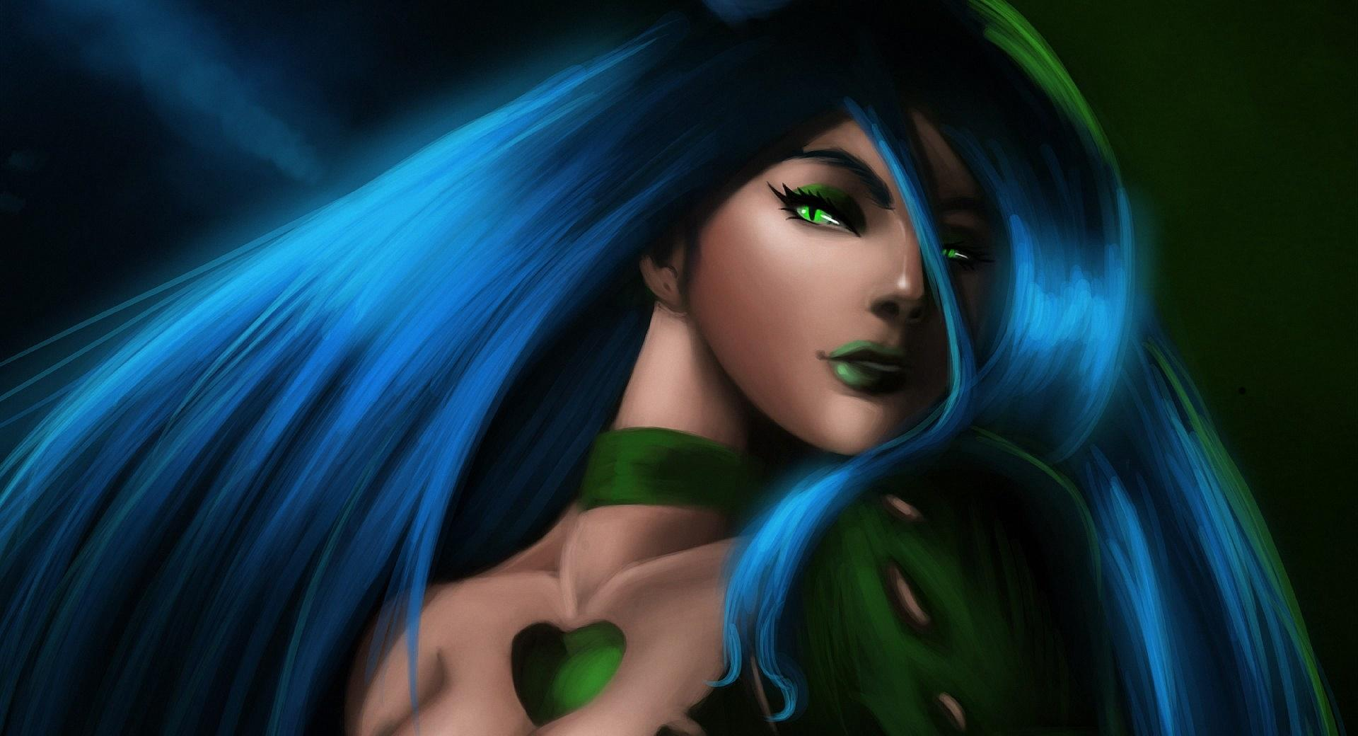 Girl With Green Eyes, Green Lips wallpapers HD quality