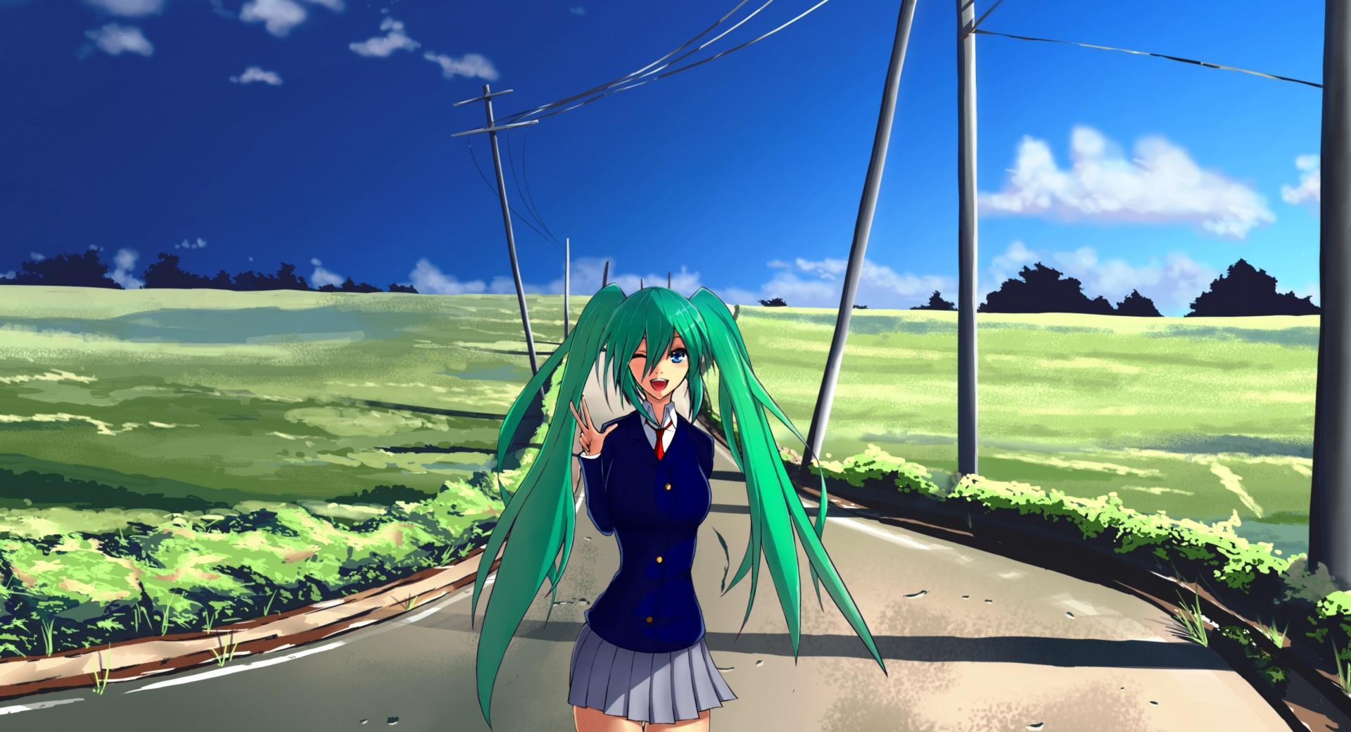 Hatsune Miku Green Hair wallpapers HD quality
