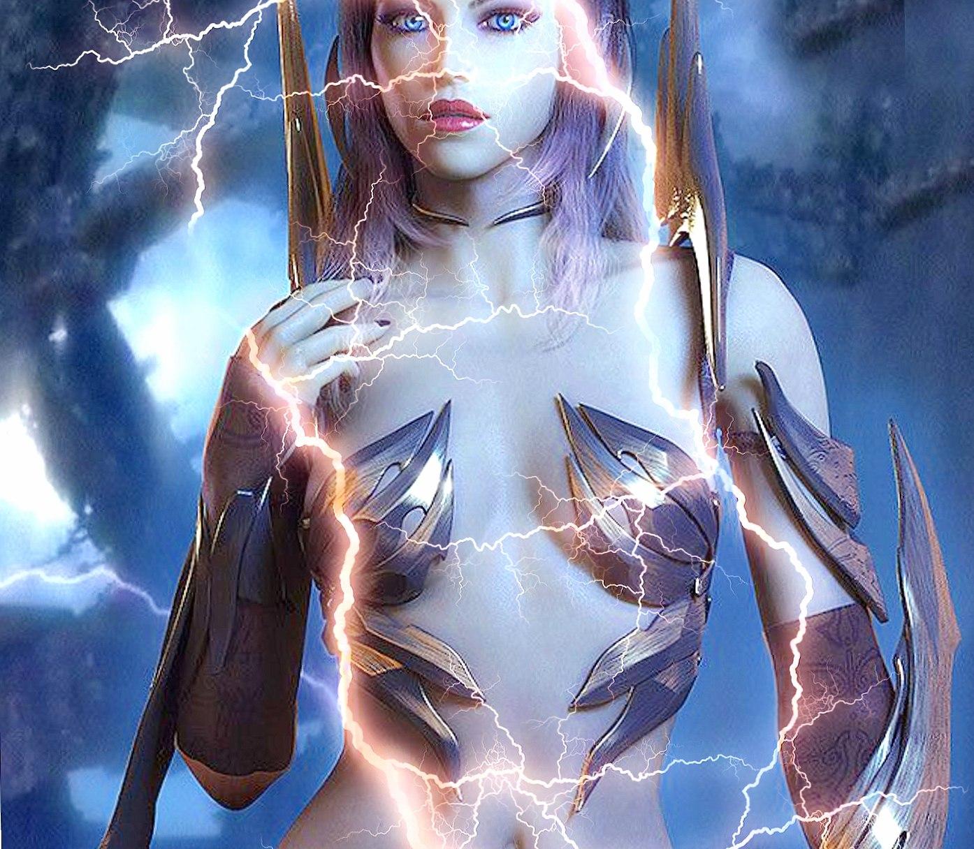 lightning woman wallpapers HD quality