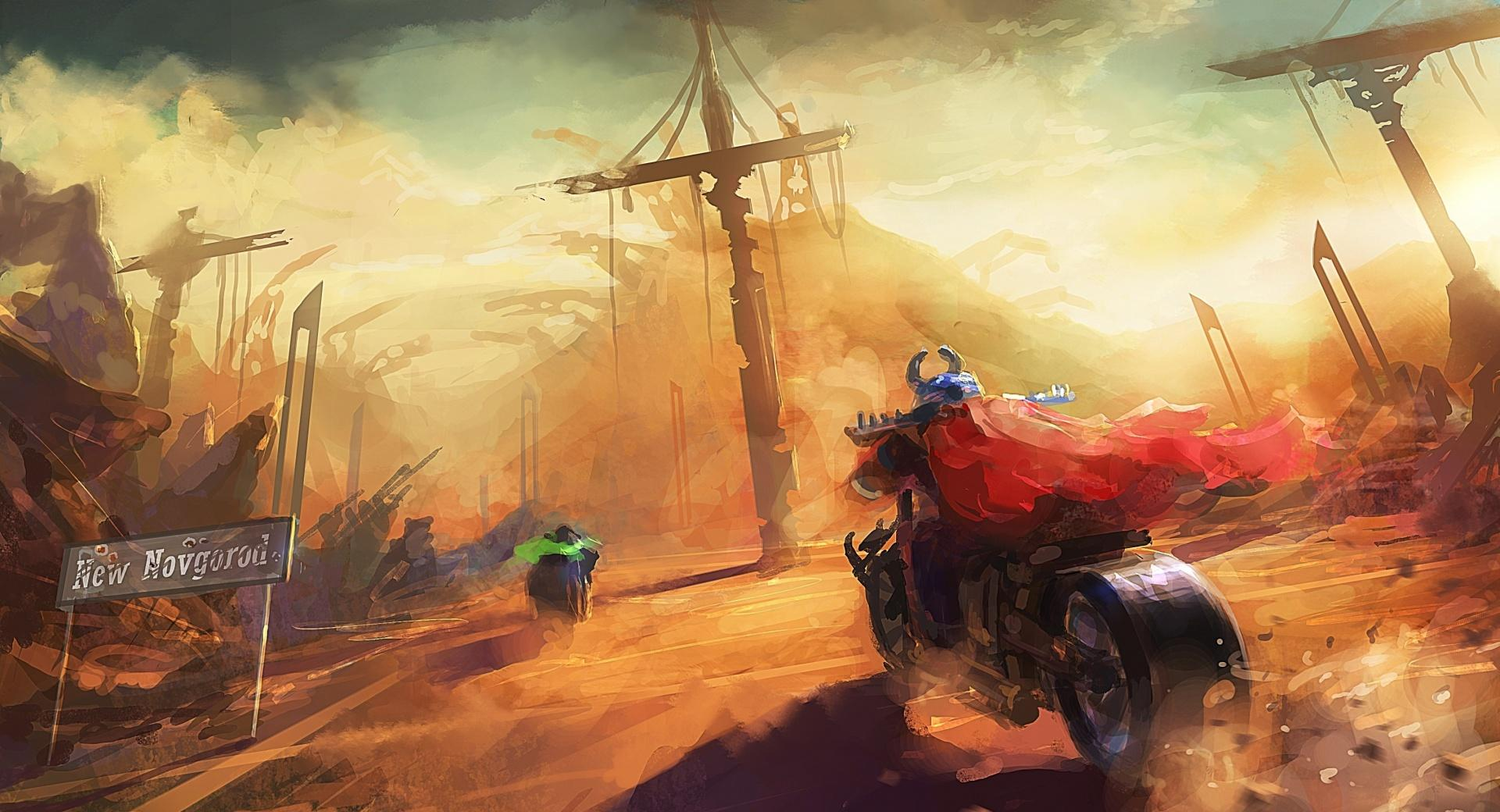 Motorcycles Painting wallpapers HD quality
