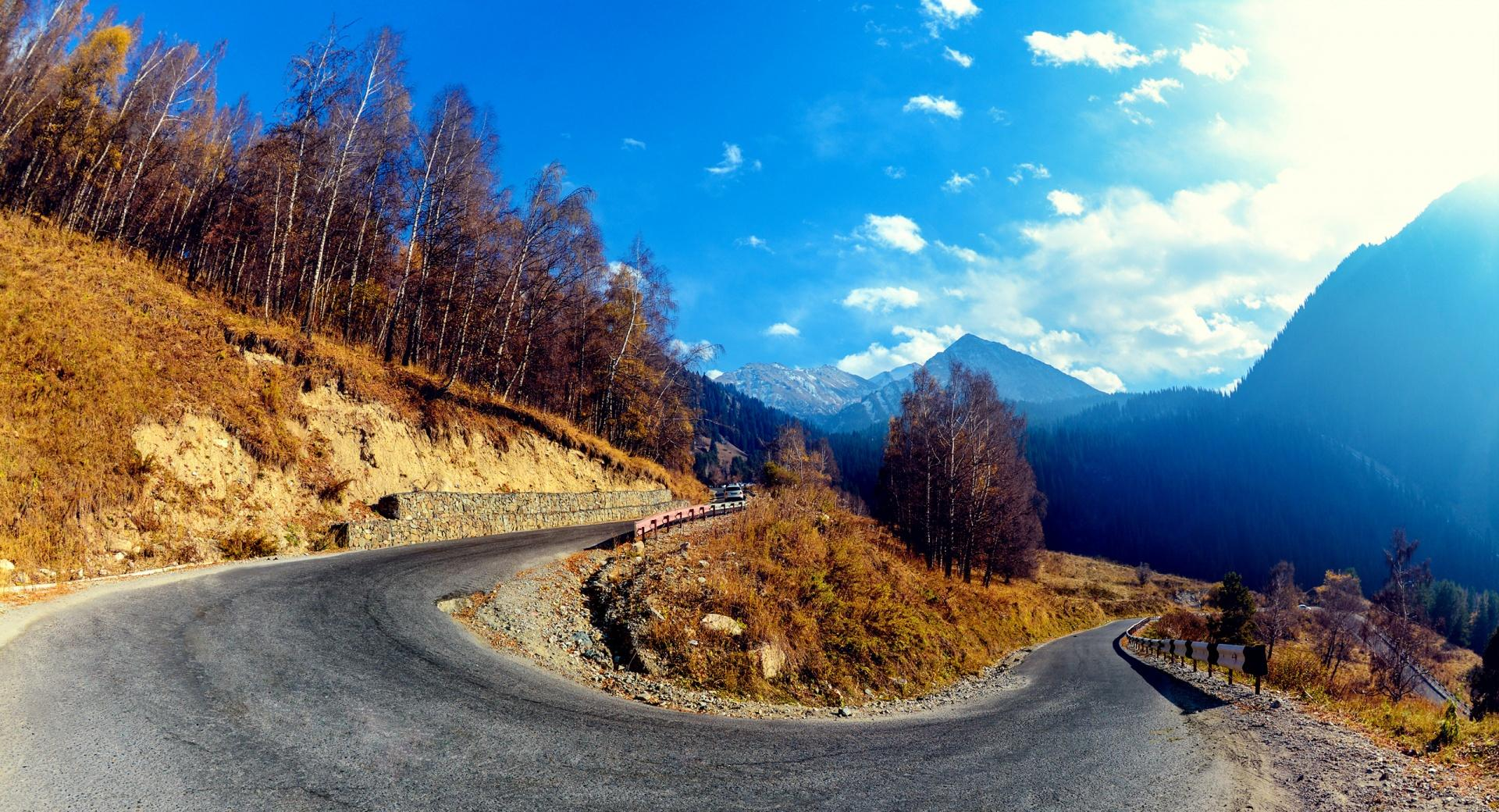 Mountain Hairpin Curve wallpapers HD quality