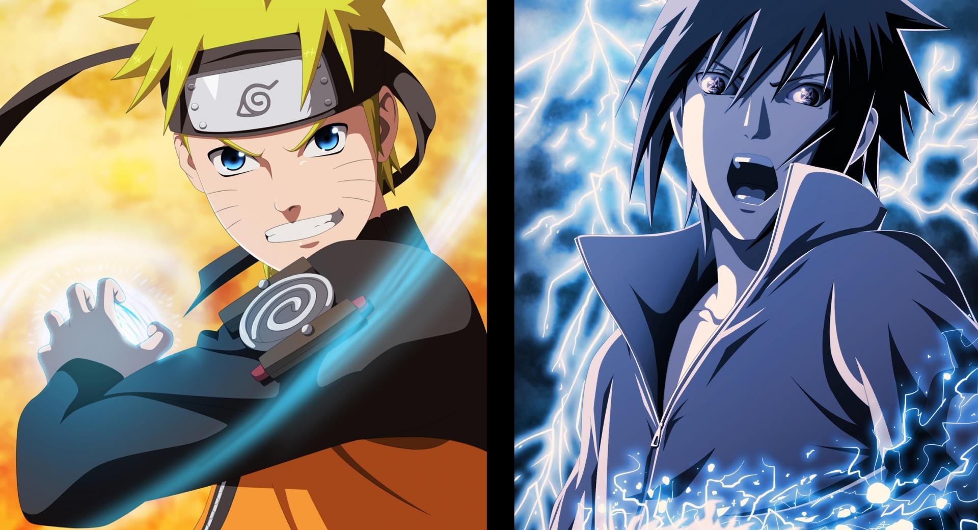 Naruto and Sasuke - Opposites wallpapers HD quality