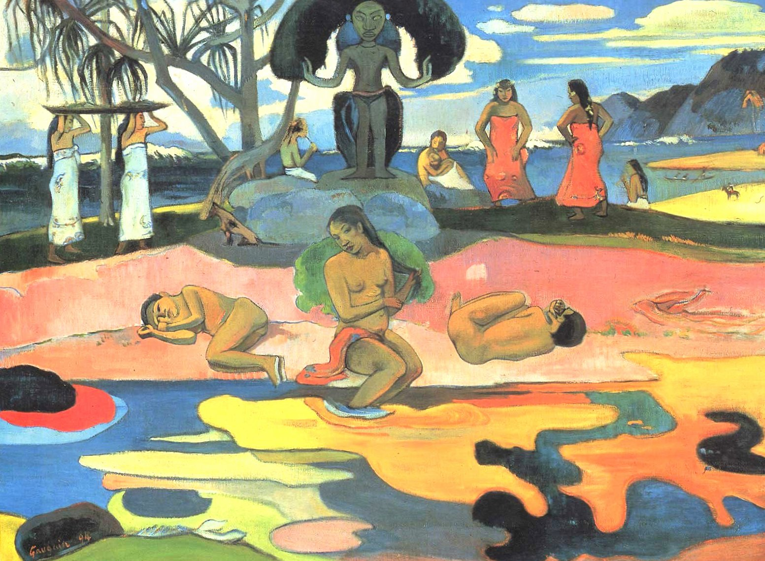 Paul gauguin the day of the gods at 2048 x 2048 iPad size wallpapers HD quality