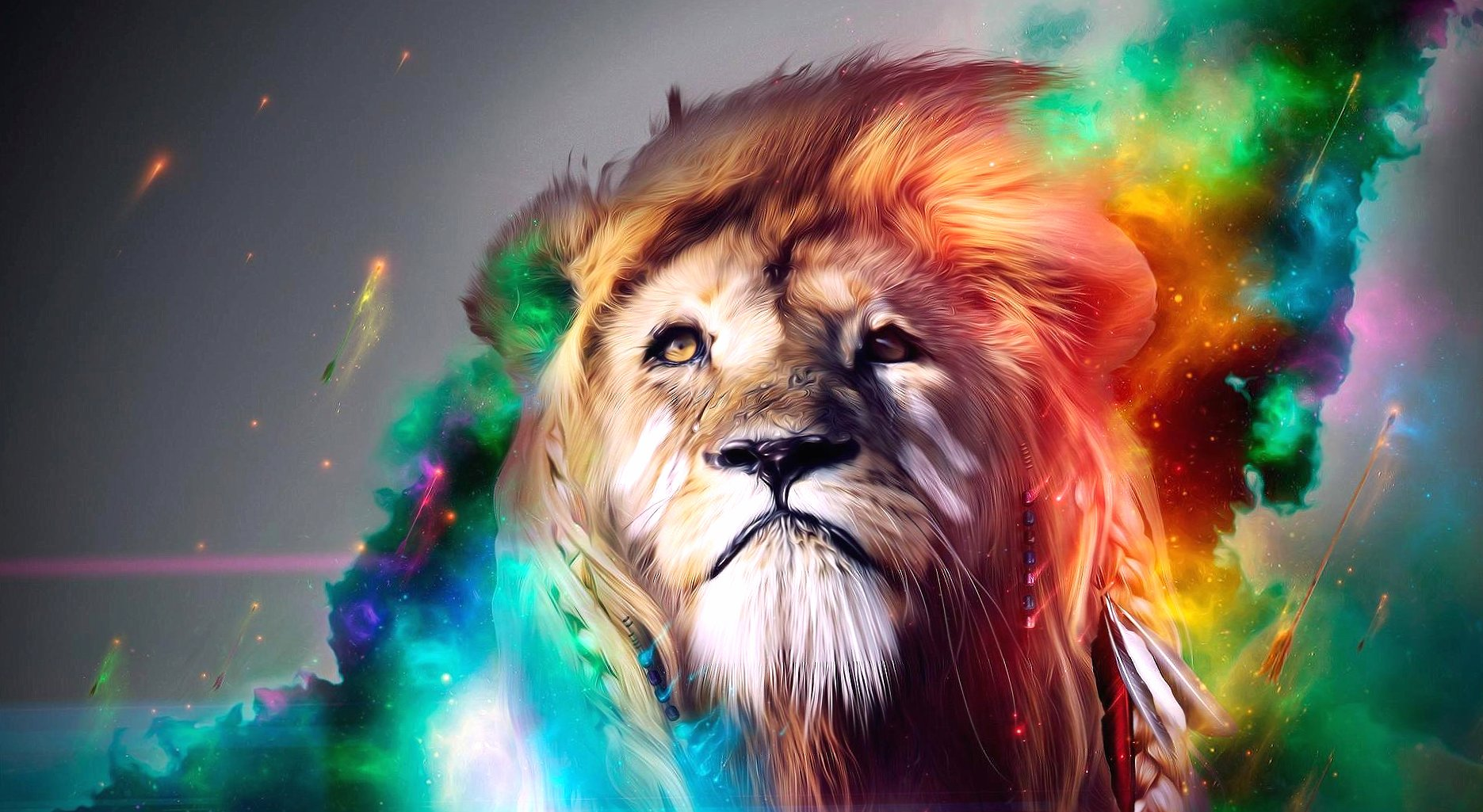 Photoshop lion wallpapers HD quality