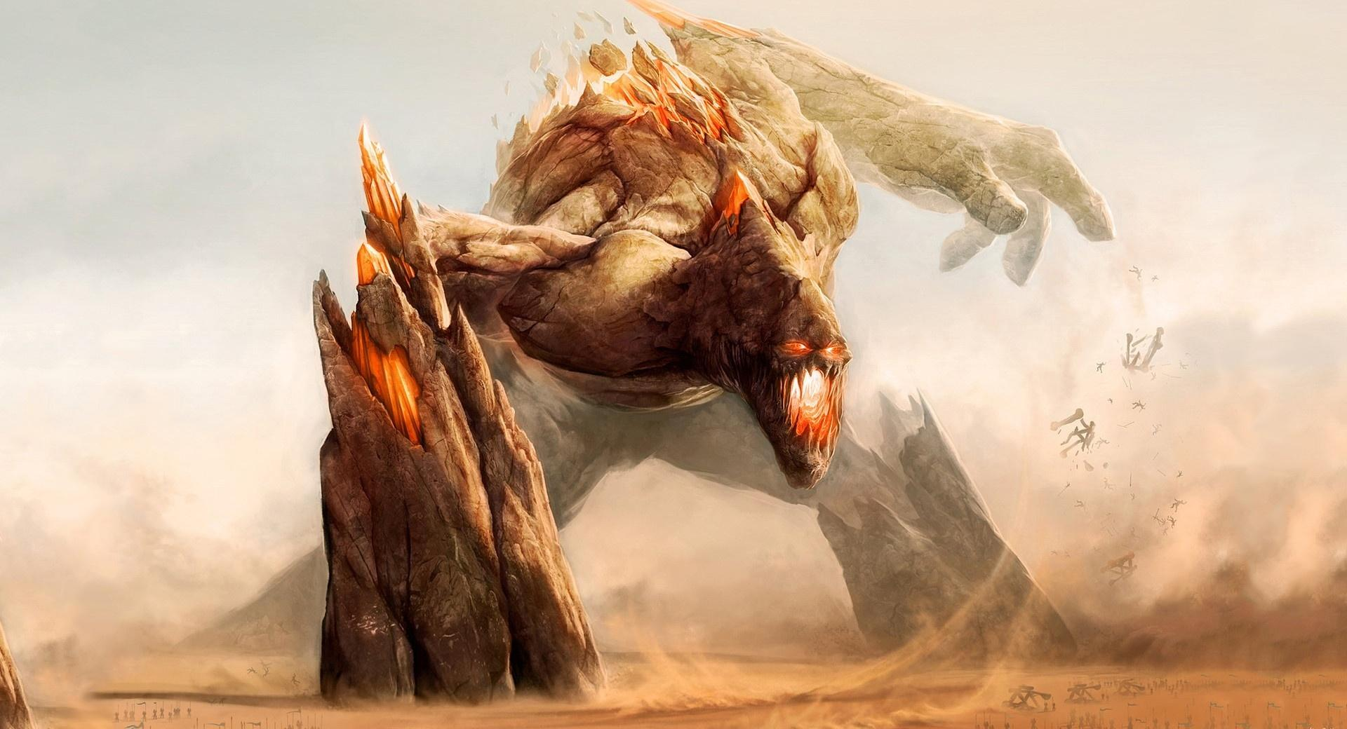 Rock Monster Painting wallpapers HD quality