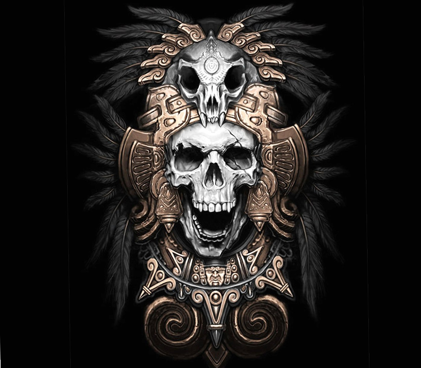 Skull Aztec wallpapers HD quality