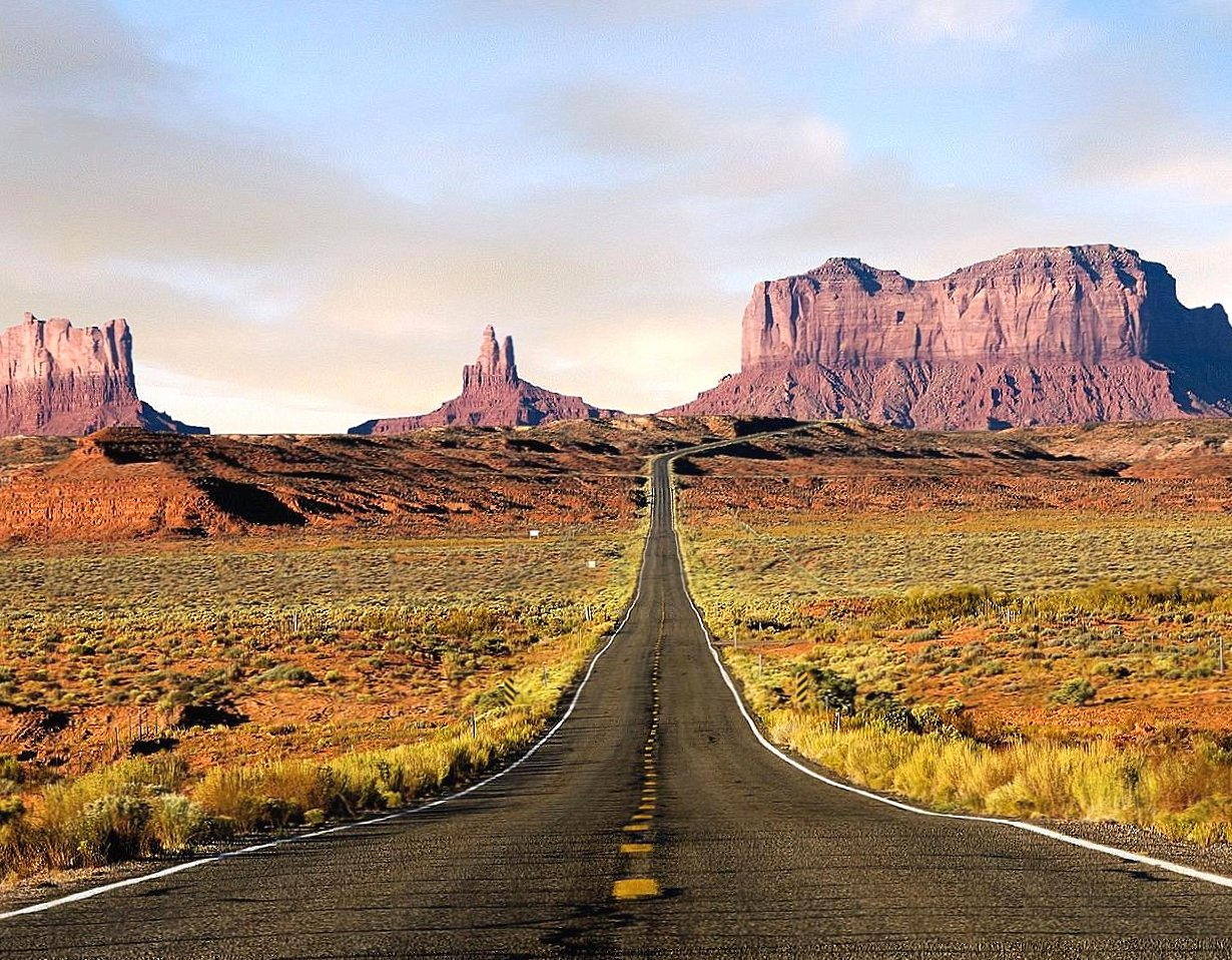 Street for monument valley utah wallpapers HD quality