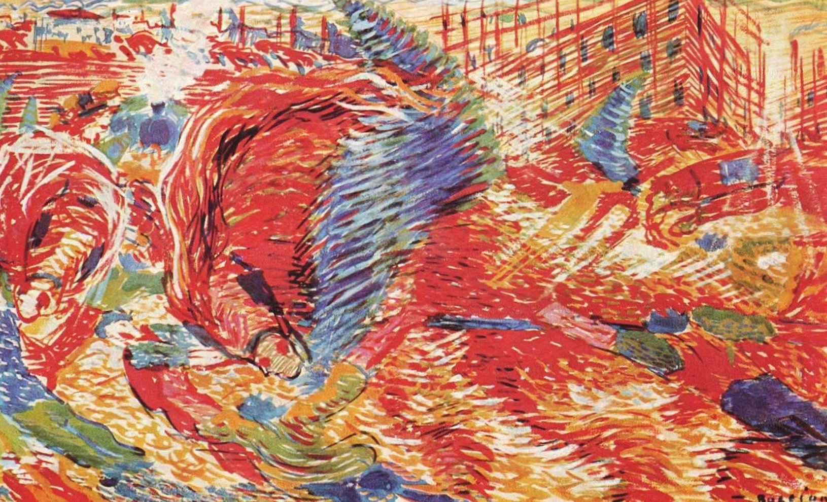 Umberto boccioni the city rises wallpapers HD quality