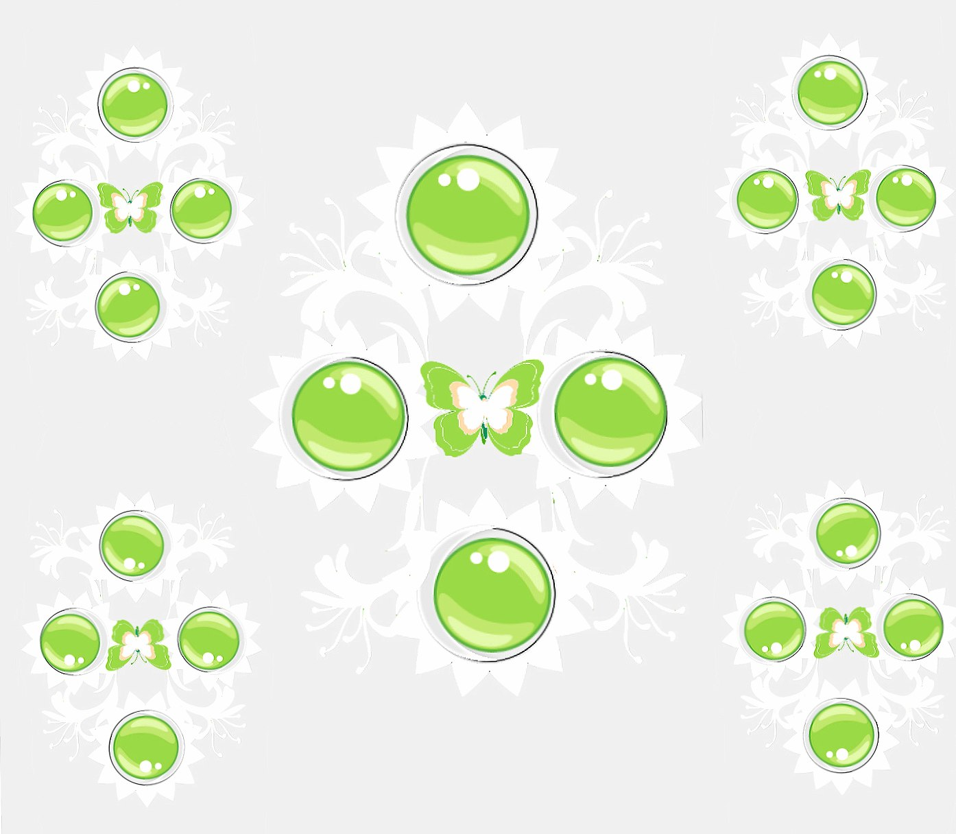 White Green forms wallpapers HD quality