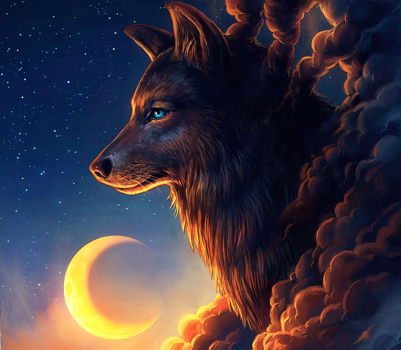Wolf in Cloud wallpapers HD quality