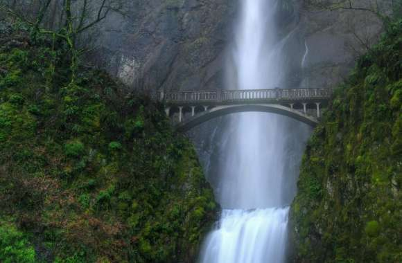 Bridge Over Waterfall wallpapers hd quality