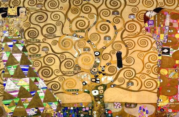 gustav klimt the tree house wallpapers hd quality