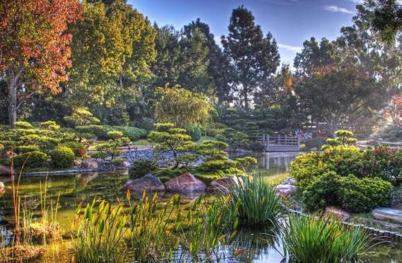 Japanese Garden HDR wallpapers hd quality