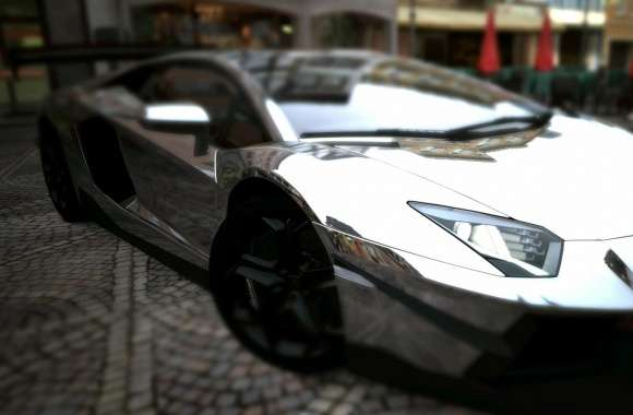 Lamborghini Aventador LP700-4 Silver Chrome wallpapers hd quality