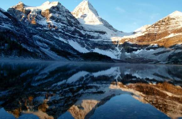 Mountain Peaks Reflection wallpapers hd quality