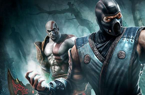 Sub Zero And Kratos wallpapers hd quality