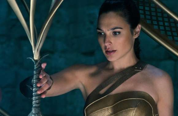 Wonder Woman Touching Her Sword