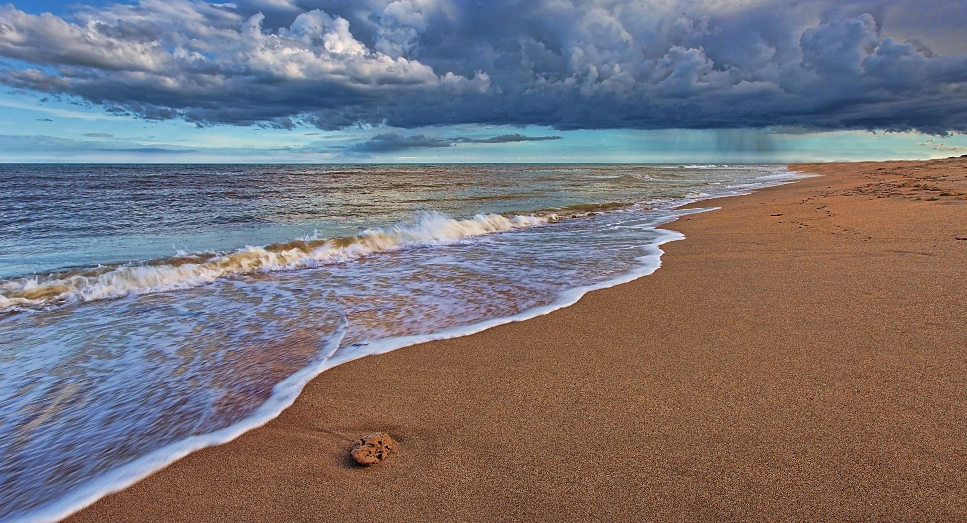 Beach Rain wallpapers HD quality
