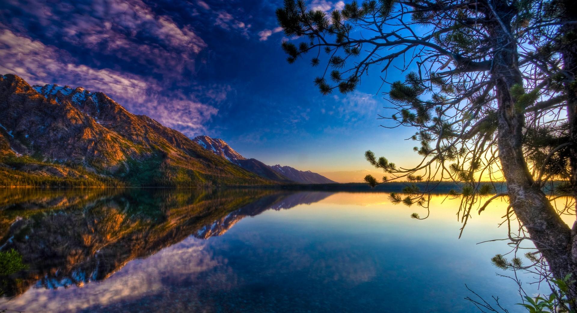 Beautiful Lake Reflection, HDR wallpapers HD quality