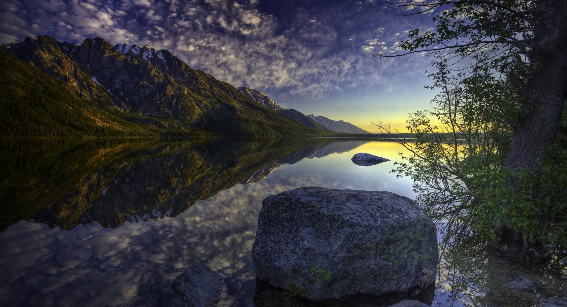 Beautiful Lake Sunrise wallpapers HD quality